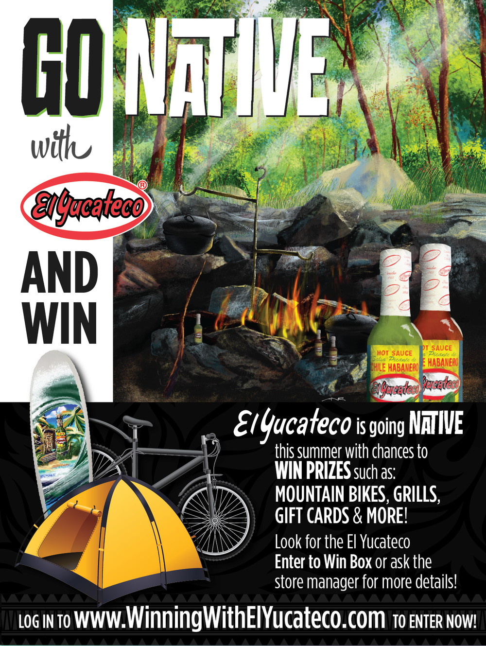Raffle Poster - Camping