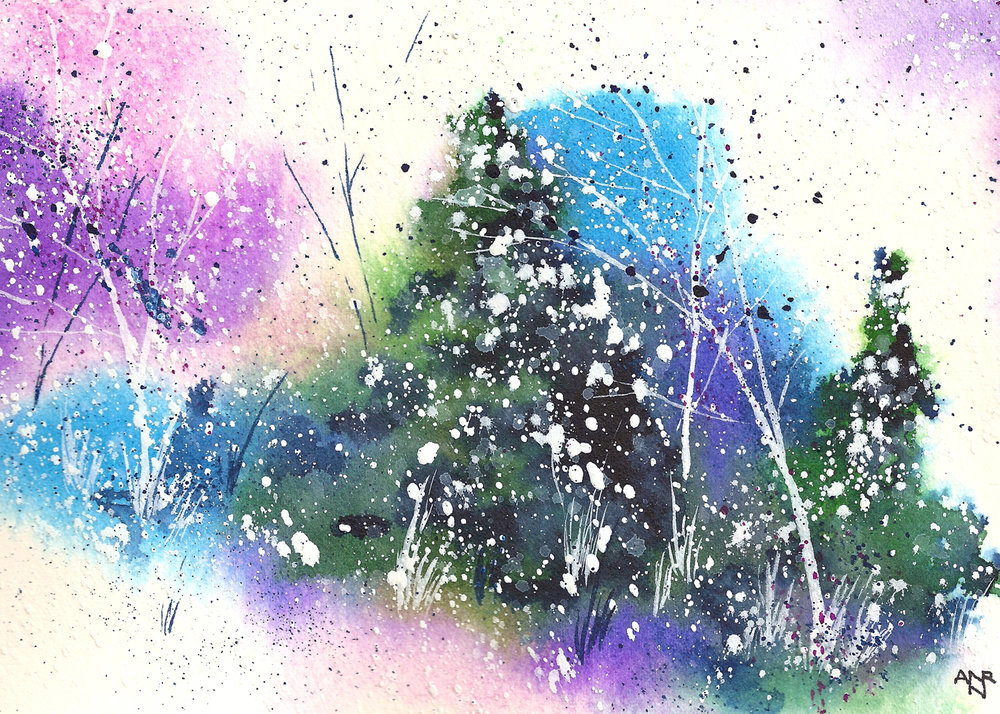 Holiday-Card-1-Winter-Art-Hand-Painted-Watercolor-Art-Snow-Cold-Pine-Trees-HC-18-10.jpg