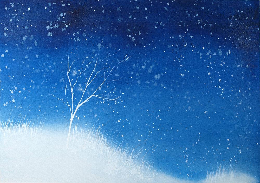 White Winter Tree
