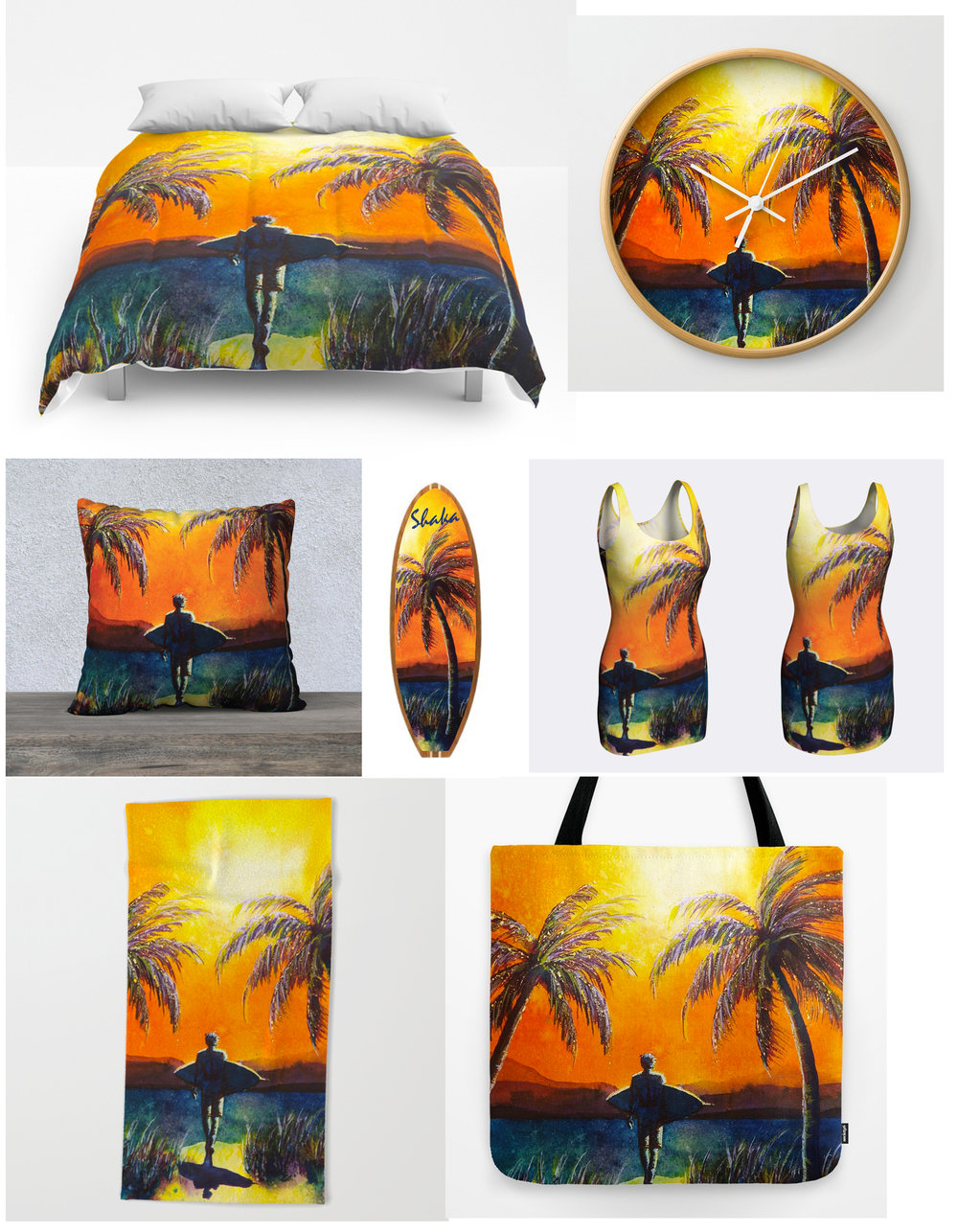 Sunset Surfer Sample Products