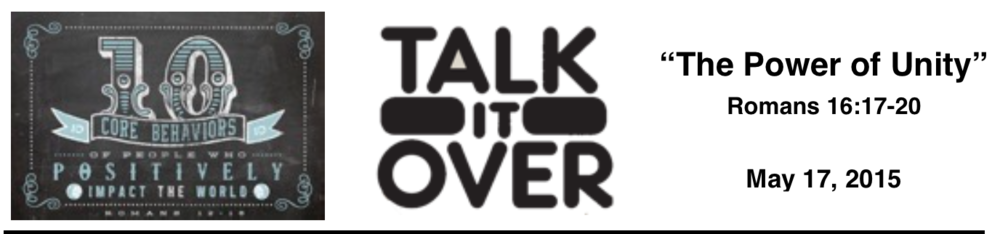 Talk It Over - 5/17/15