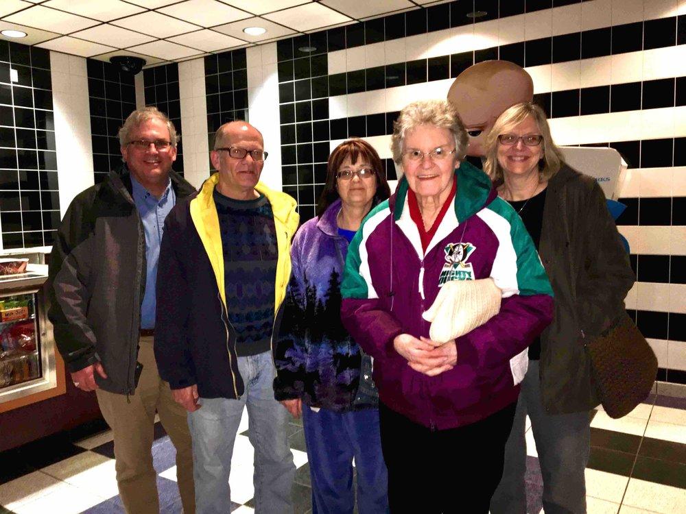 (L-R) Roger Scarlett, Russ Cornwell, Nancy Cornwell, Janet Hecker, Nancy Kernin