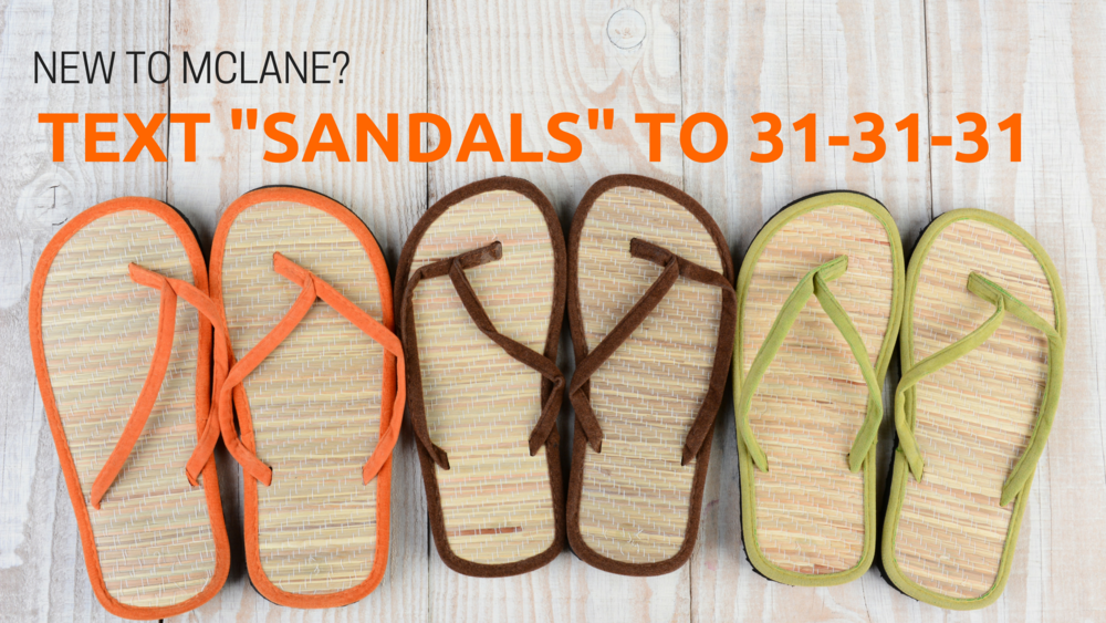 Text the word _SANDALS_ to 31-31-31.png