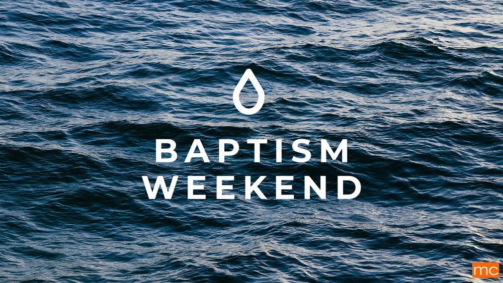 Our next baptism weekend is April 27 & 28! If you'd like to be baptized, click the button below.