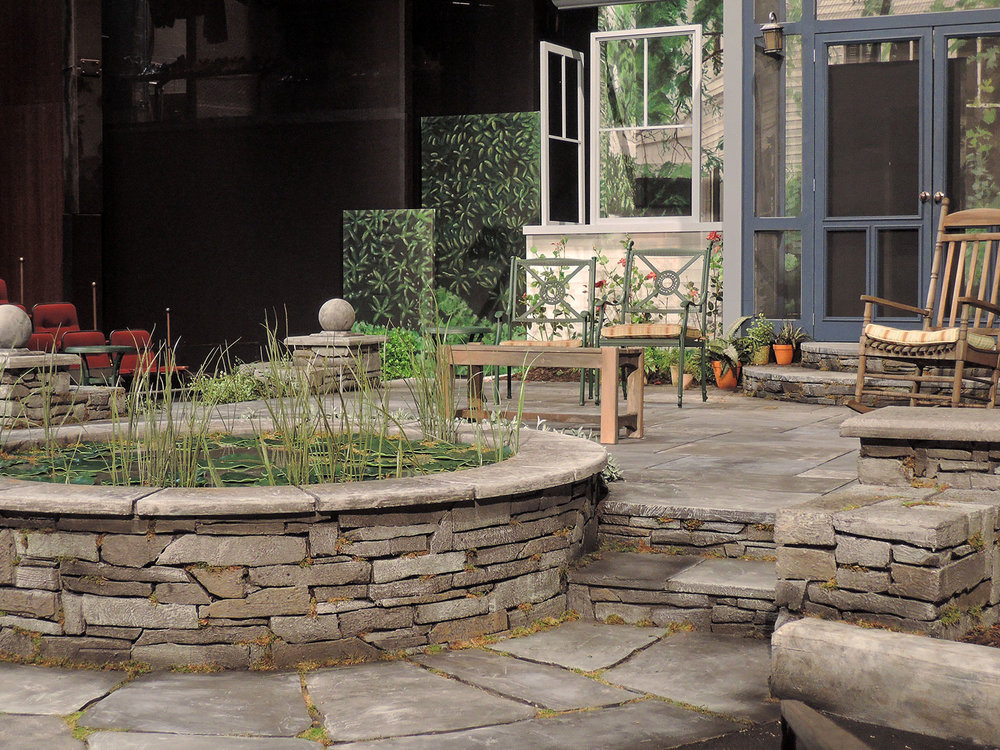 All My Sons - Scenic Design - Pond Detail