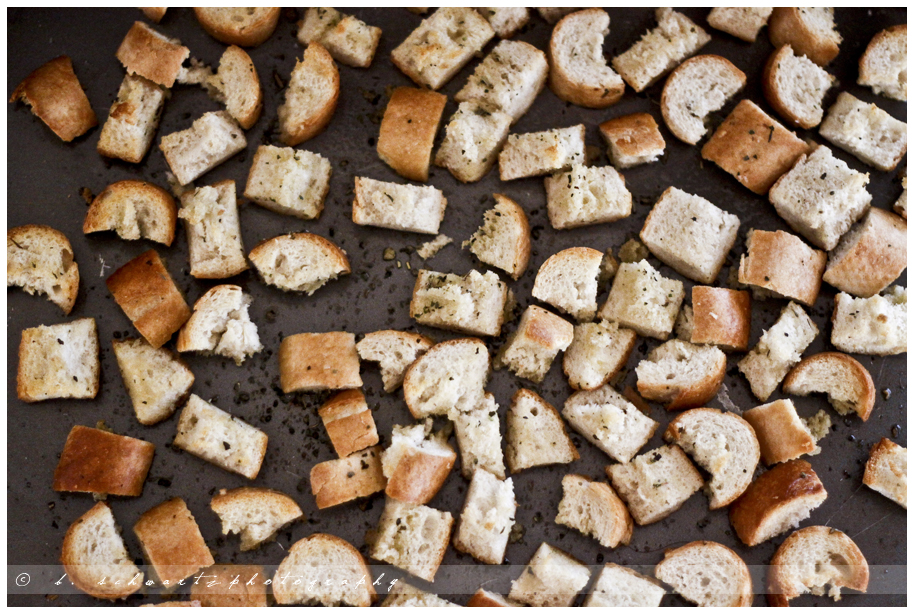 Home made croutons… Ill never buy store bought again! Amazing, and so easy!!