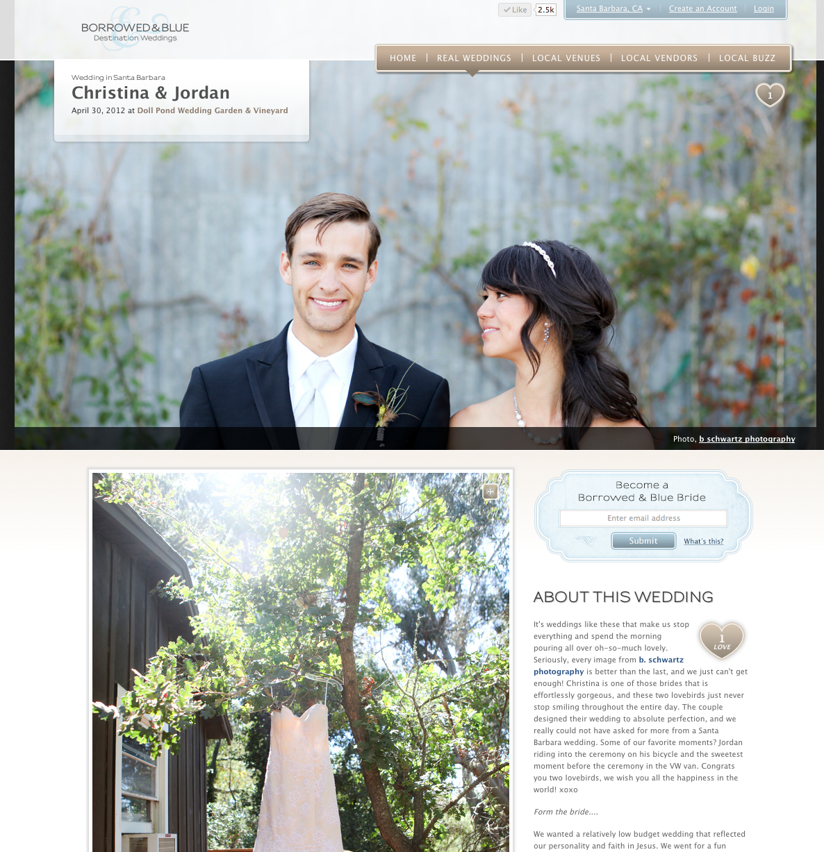 So incredibly thrilled to have Christina and Jordans beautiful wedding featured on Borrowed & Blue today! Check it out! http://www.borrowedandblue.com/santa-barbara/weddings/christina-jordan