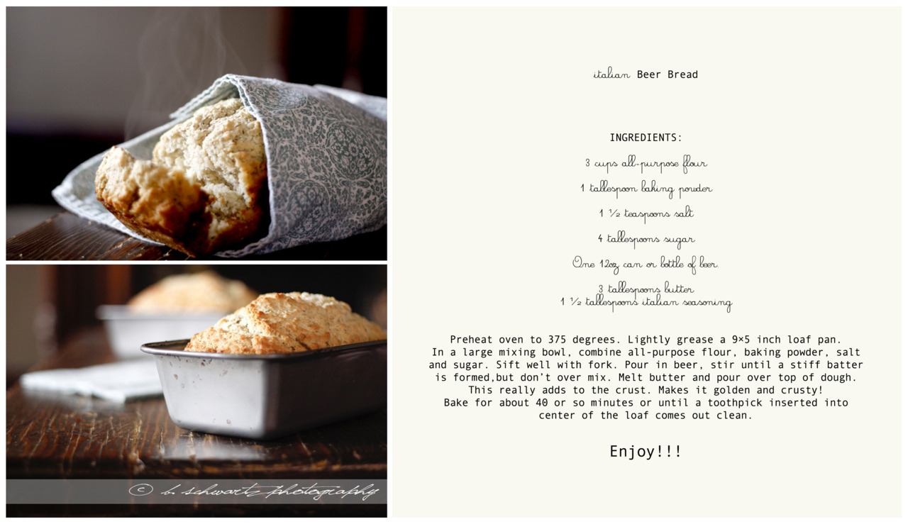 Heres the recipe you have to try it out! ©bschwartzphotography