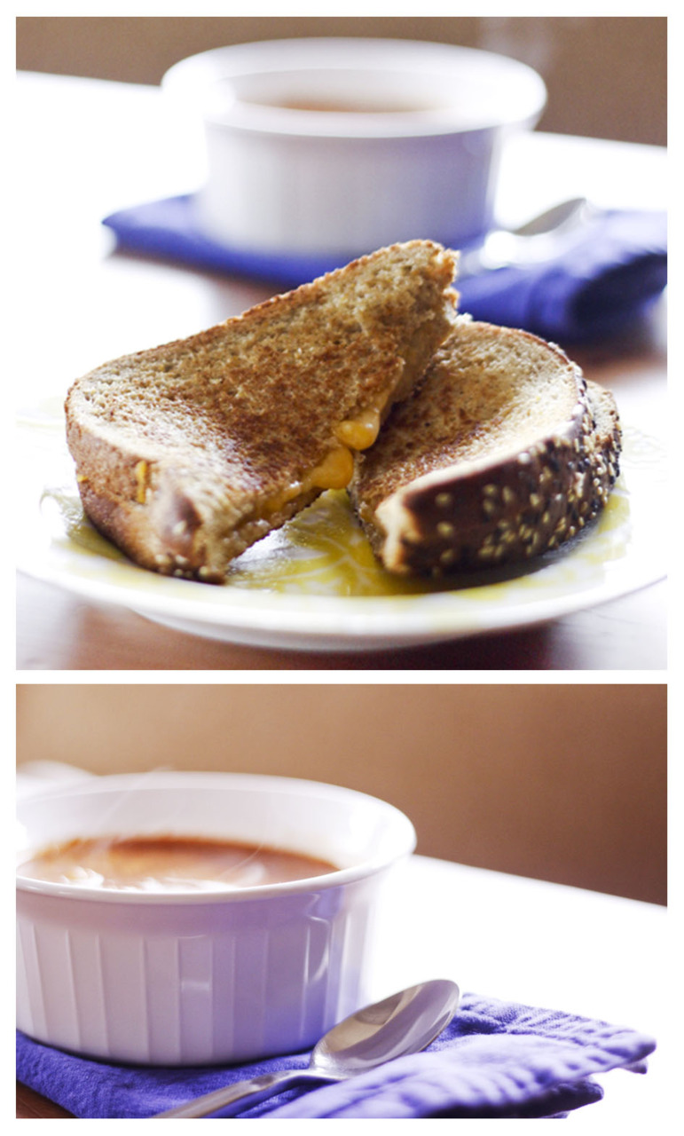 Comfort Food = Grilled Cheese and Tomato Soup on a cold day :)    ©bschwartzphotography