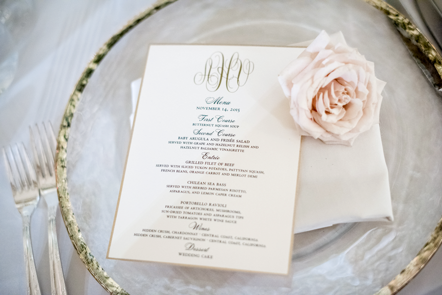 pasadena-wedding-planner-dinner-menu