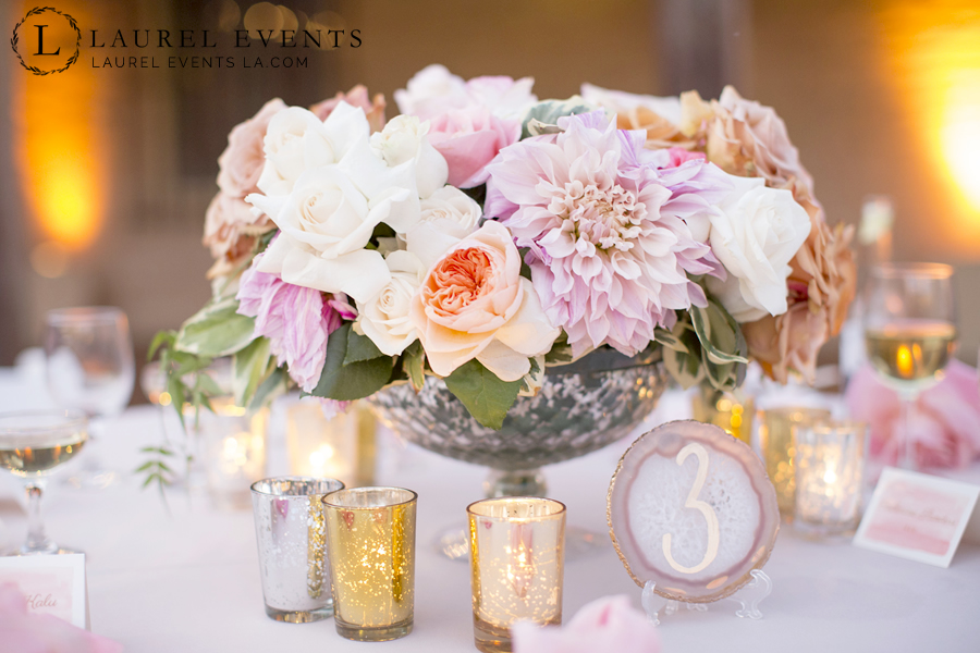 Stunning floral center piece for a luxe wedding.
