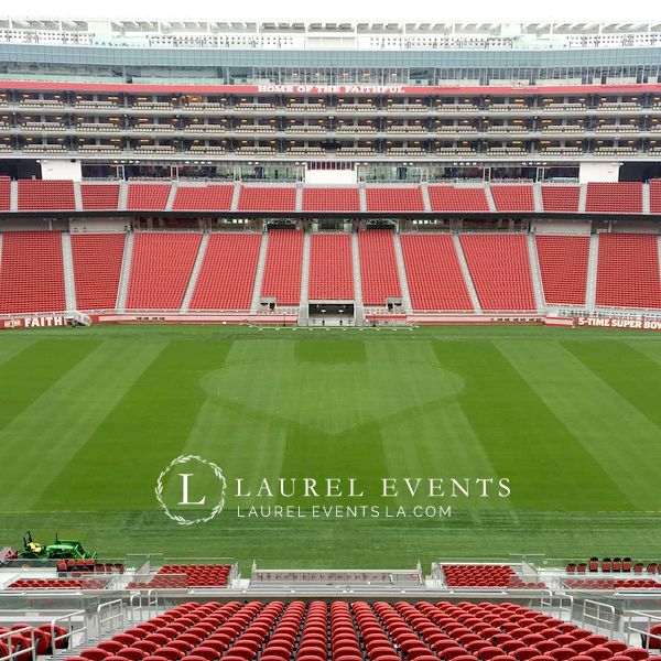 Football Themed Wedding at Levi's Stadium, San Fransisco