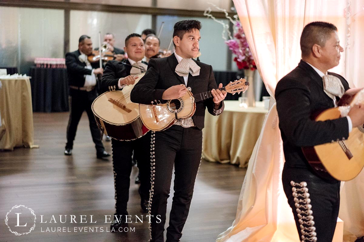 Mariachi Band surprised the bride during the Mexican Style Wedding Reception