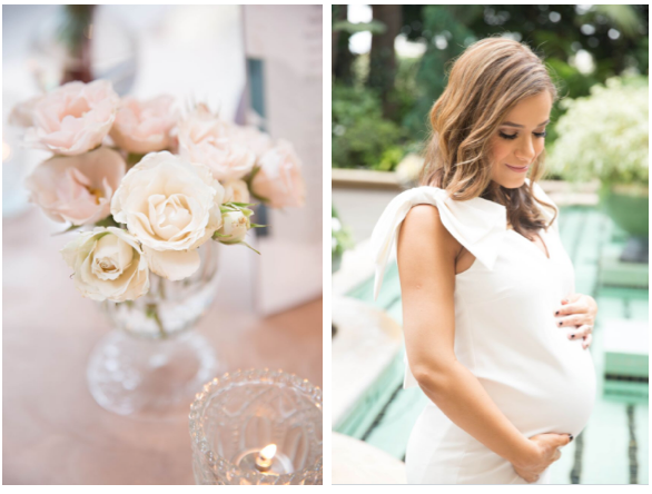 You can never go wrong with fresh flowers for the beautiful mommy-to-be. Design & Coordination by Laurel Events LA.