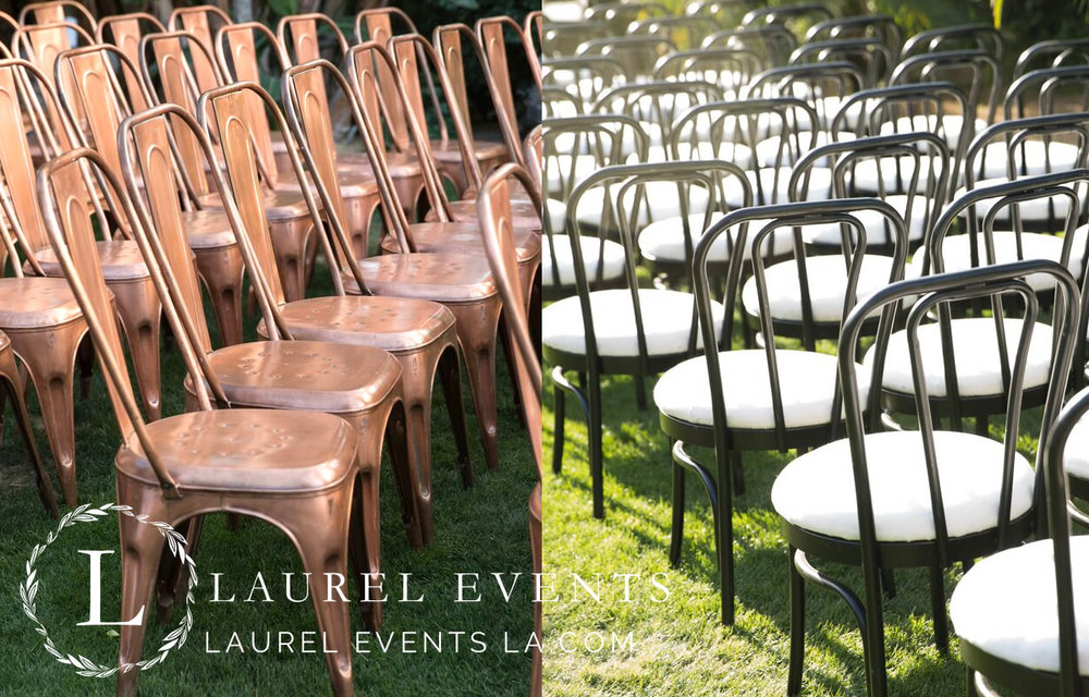 Hammered Brass and Bentwood Chair Pairing for Unconventional Wedding Seating Design
