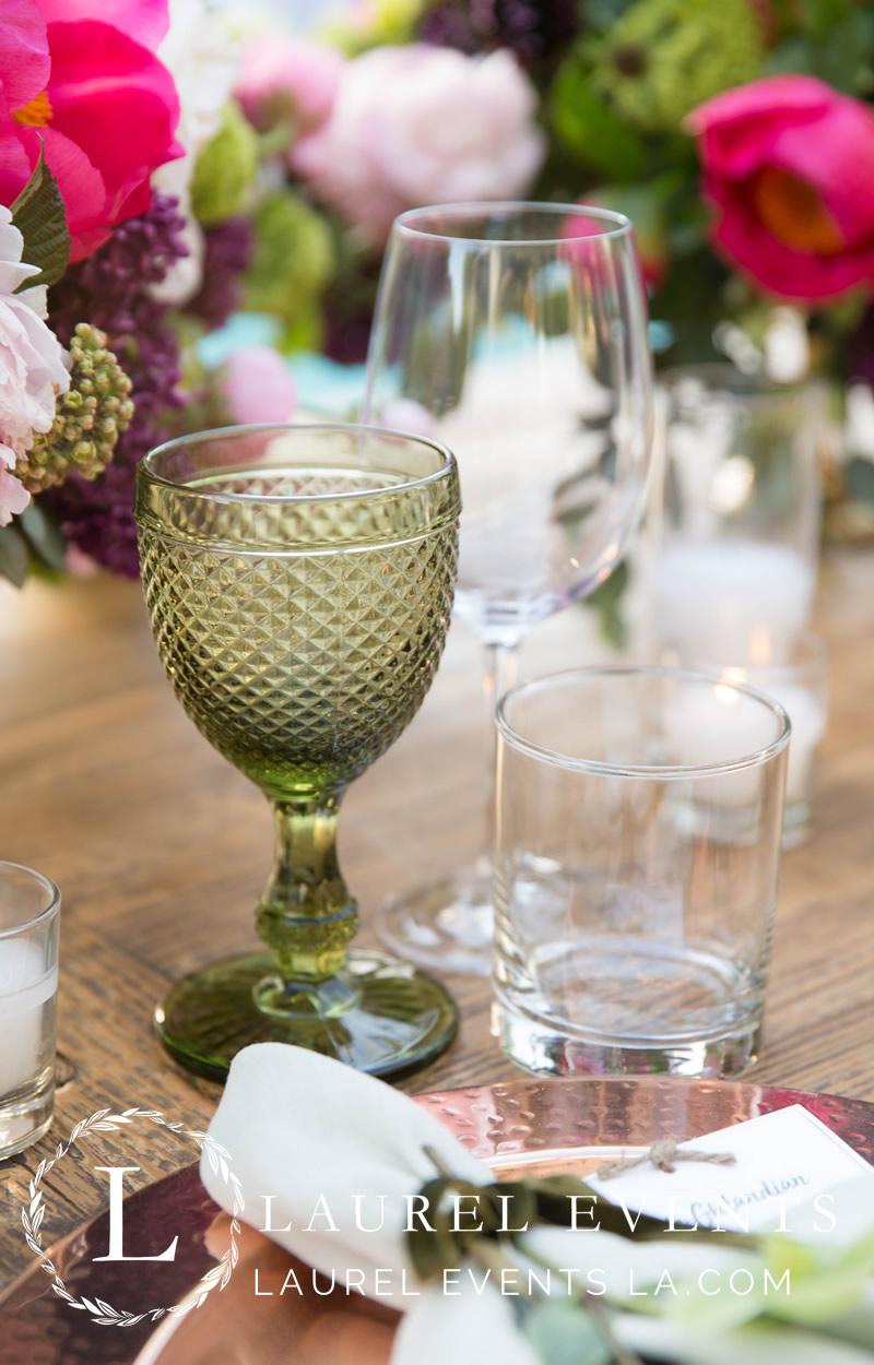 Vintage, Olive-Green Goblets