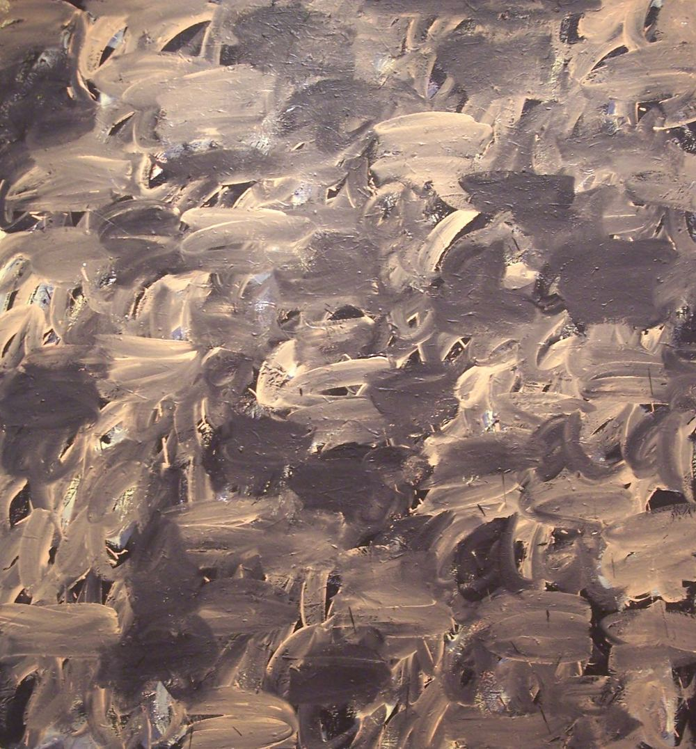 "THE GRAMMAR OF PAINTING, 2009 Acrylic on canvas, 72"" x 65"" (182.88 x 165.1 cm)"