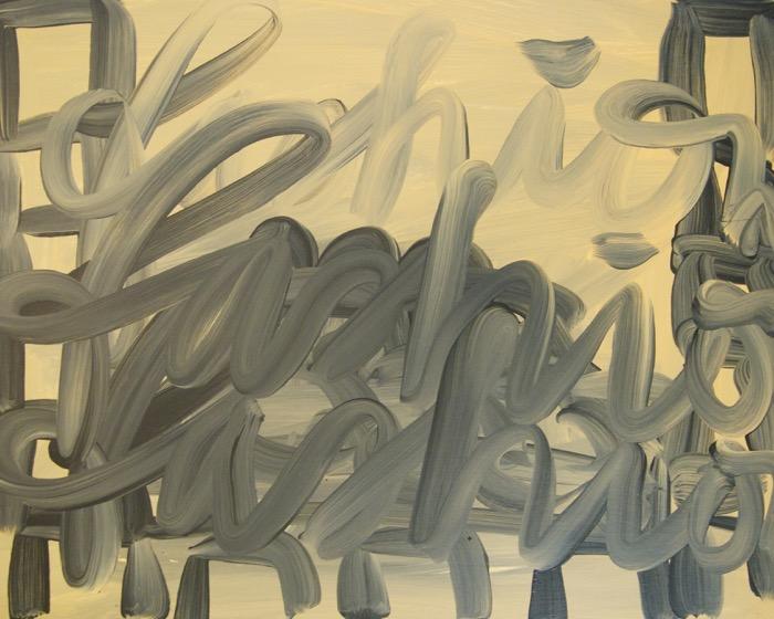 "FASHION NARRATIVE, 2011 Acrylic on wood, 24"" x 30""  (60.96 x 76.2 cm)"