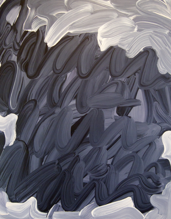 "(RAIN ON ME) TRAGEDY, 2012 Acrylic on wood, 30"" x 24"" (76.2 x 60.96 cm)"