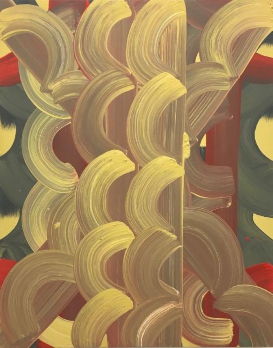 Fairy Tales  2017,acrylic on wood, 30 x 24 x 2 in (76.2 x 60.96 cm)