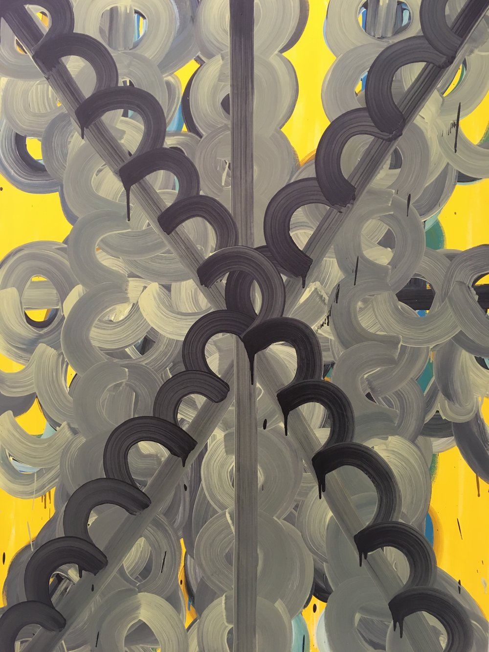 Elephant  2016,acrylic on canvas, 72 x 48 x 2 in (182.88 x 121.92 cm)