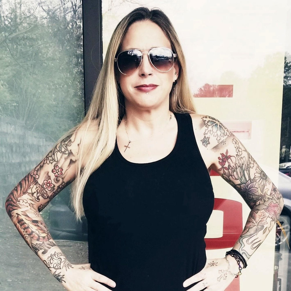 Allison Hall - Allison Hall is Greenville's first female tattoo artist. She began her tattooing career at Physical Graffiti South in 2008. In early 2017, took over ownership of PGS Tattoo and started Reckless Heart, LLC. Art has always been a focus for Allison. Whether drawing, painting or tattooing, art is her passion. She loves doing many different styles of tattooing including bold color, realism, neo-traditional and black and grey.