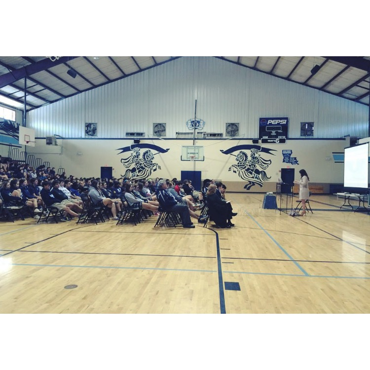 Ainsley Speaks to her former high school about unveiledcampaign.com