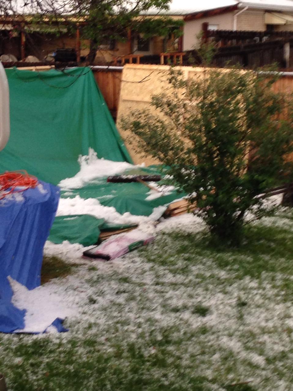 That's hail. Freakin' hail.