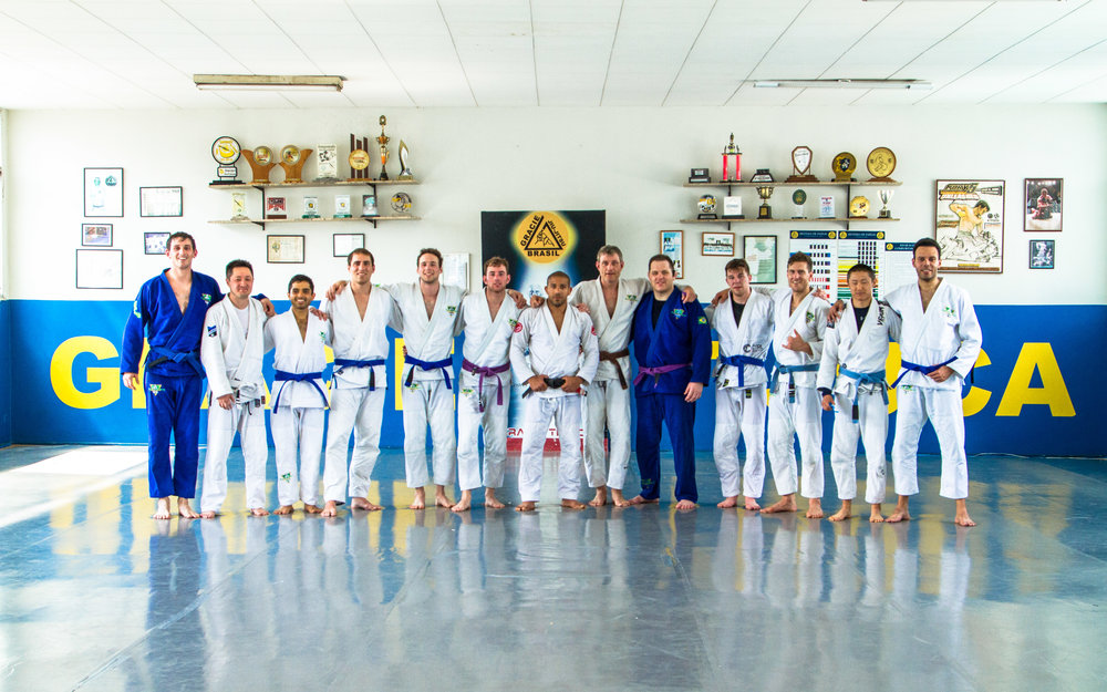 The Romulo Melo team training at Gracie Tijuca