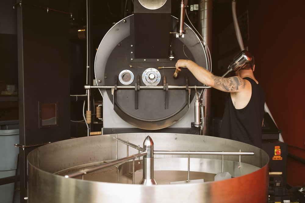 Charlie - Head Roaster at Duluth Coffee Company. Photo Credit: Mad Chicken Studios