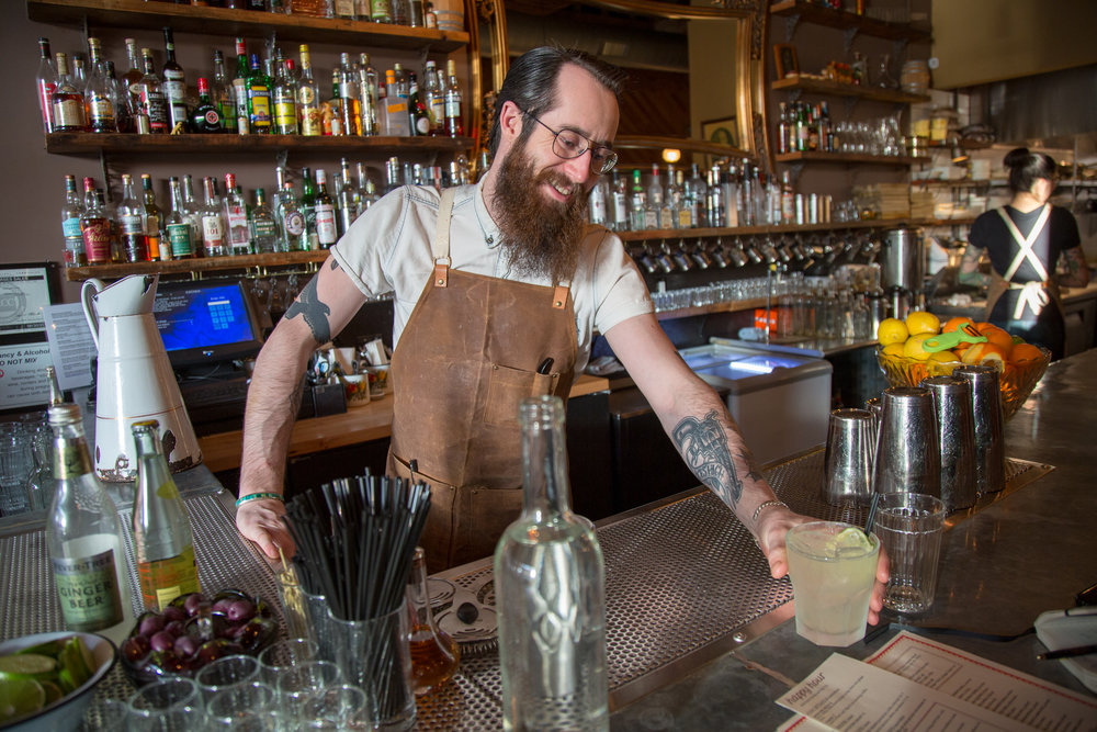 A Moscow Mule being served at acclaimed Russian restaurant Kachka in Portland, Oregon (for SF Chronicle).