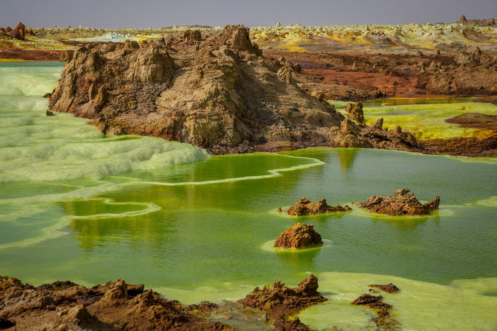Mineral pools in the other-worldly Afar Region of remote northern Ethiopia.