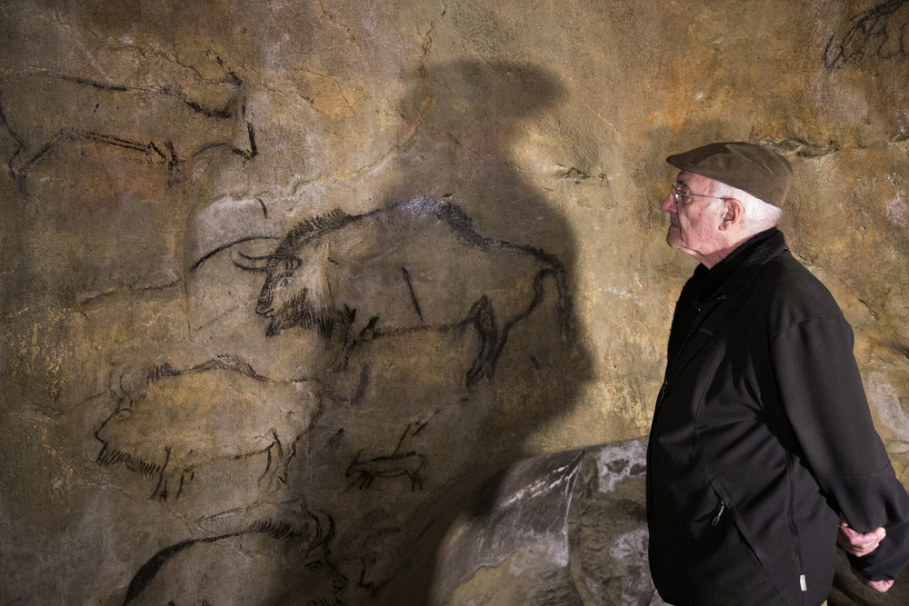 World-renown rock art expert examines ancient cave drawings in France.