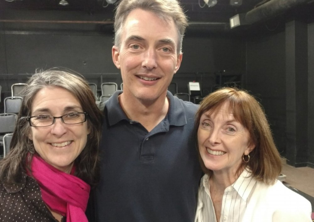 Classic Theatre CEO Kelly Roush; Dramaturg Chad Sylvain; Playwright Sheila Rinear