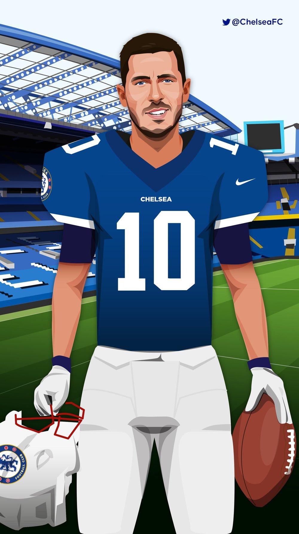 aabde700 Chelsea FC NFL promotion — Dave Flanagan Illustration