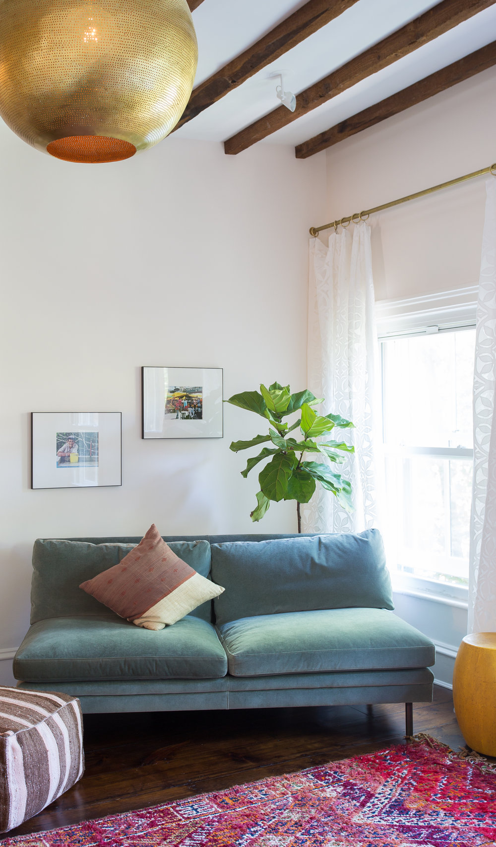 Indigo & Ochre Design Cobble Hill Master Bed Sitting Area