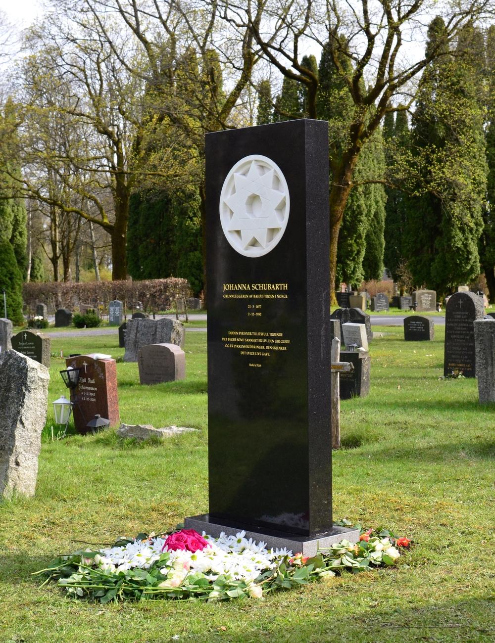 Johanna Schubarths grav på Vestre gravlund i Oslo