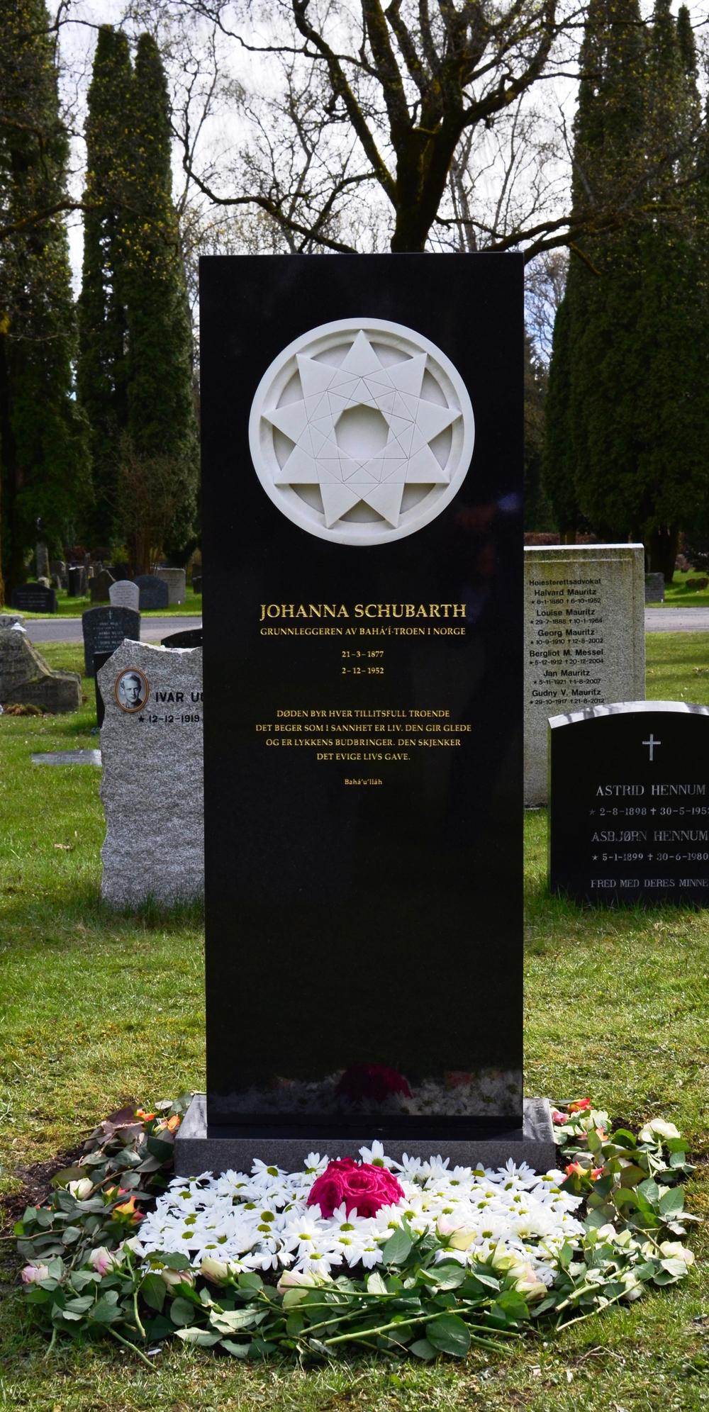 MINNESTEINEN: Den nye steinen reist til minne for Johanna Schubarth.