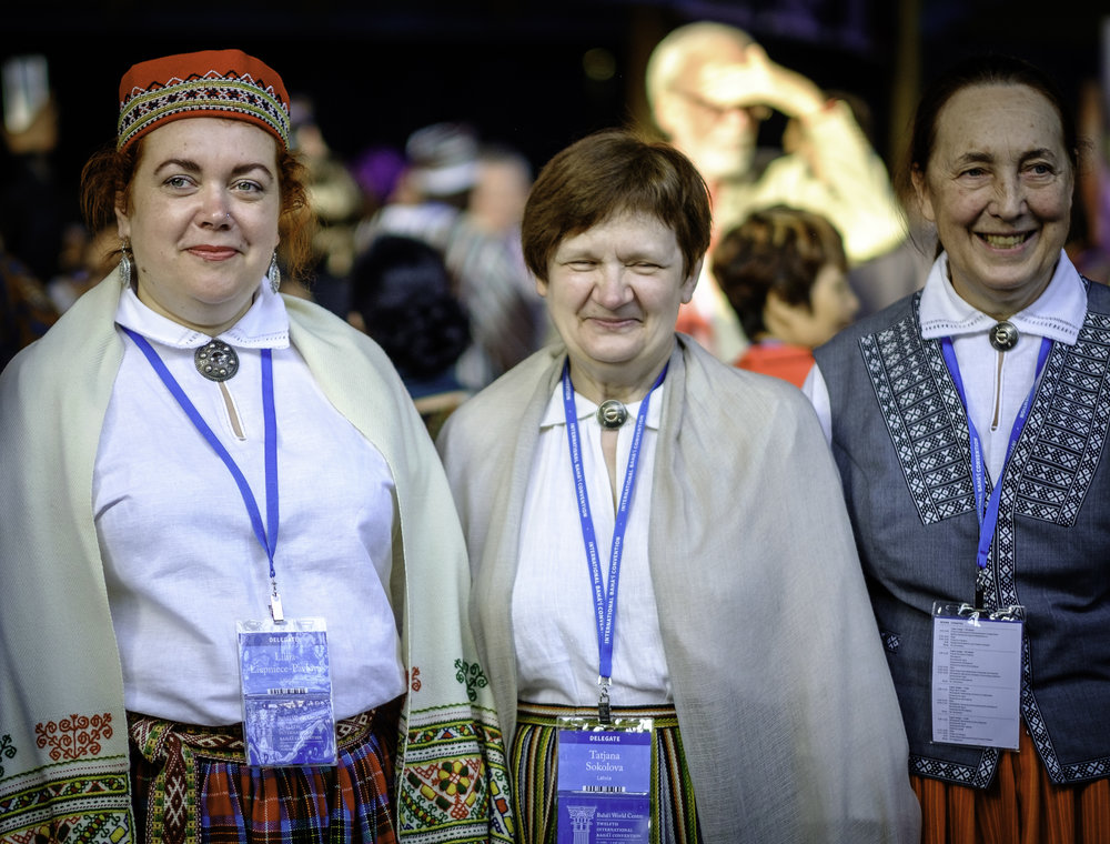 Delegater fra Latvia. Foto: Nasjonalt Åndelig Råd.