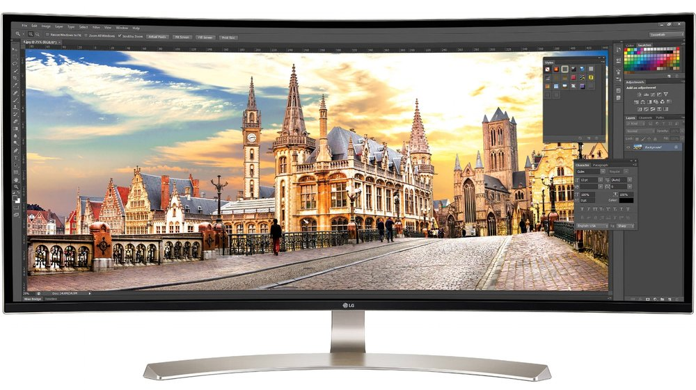 "LG 38"" curved 21:9 monitor"