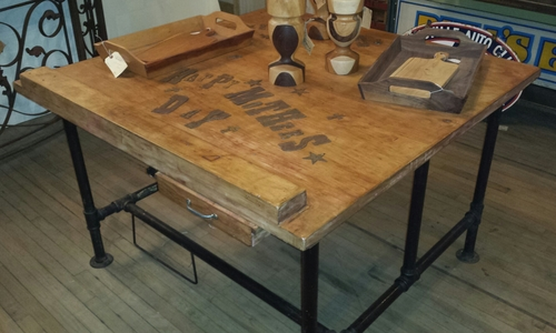 Industrial look utilitarian table - SOLD