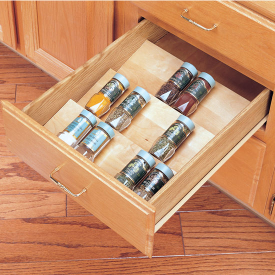 Exceptionnel Wooden Spice Drawer Insert 2