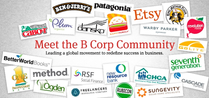 There are some heavy hitters in the B-Corp movement that you're sure to recognize, like Ben & Jerry's, Warby Parker, Cabot Cheest and Patagonia.