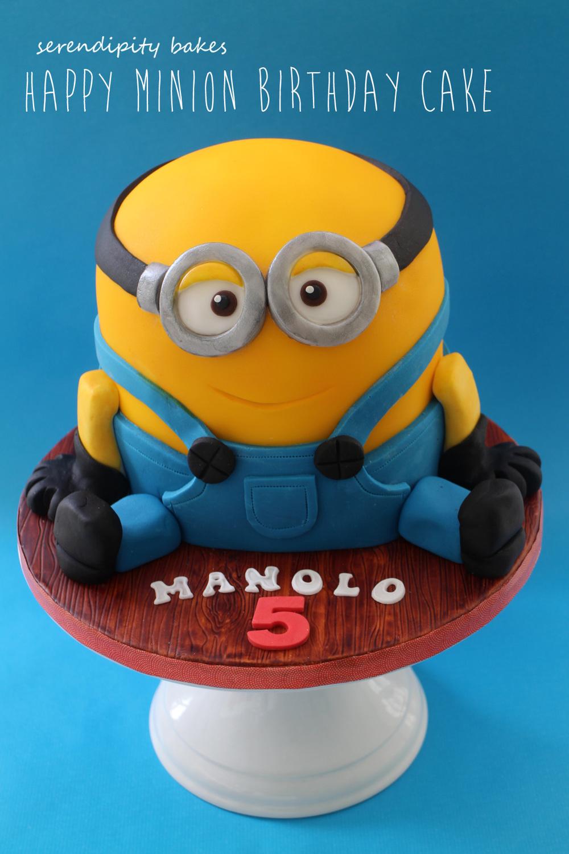Happy Minion Birthday Cake Serendipity Bakes