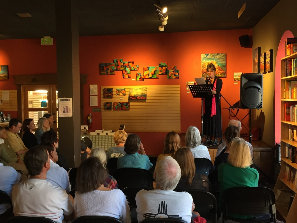 "Reading ""The Haunting of the Mexican Border"" at Santa Fe's wonderful Collected Works Bookstore."
