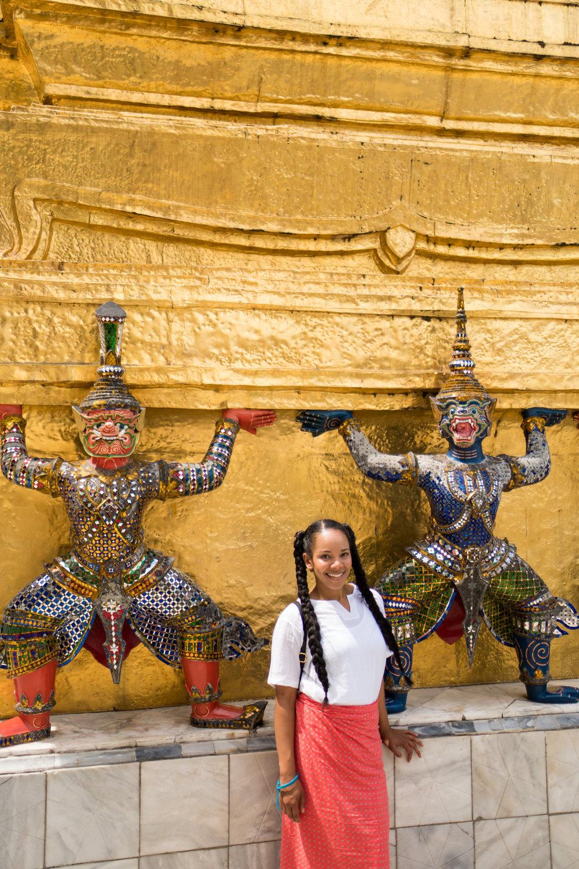 Tiffy Diamond at the Grand Palace in Bangkok Thailand