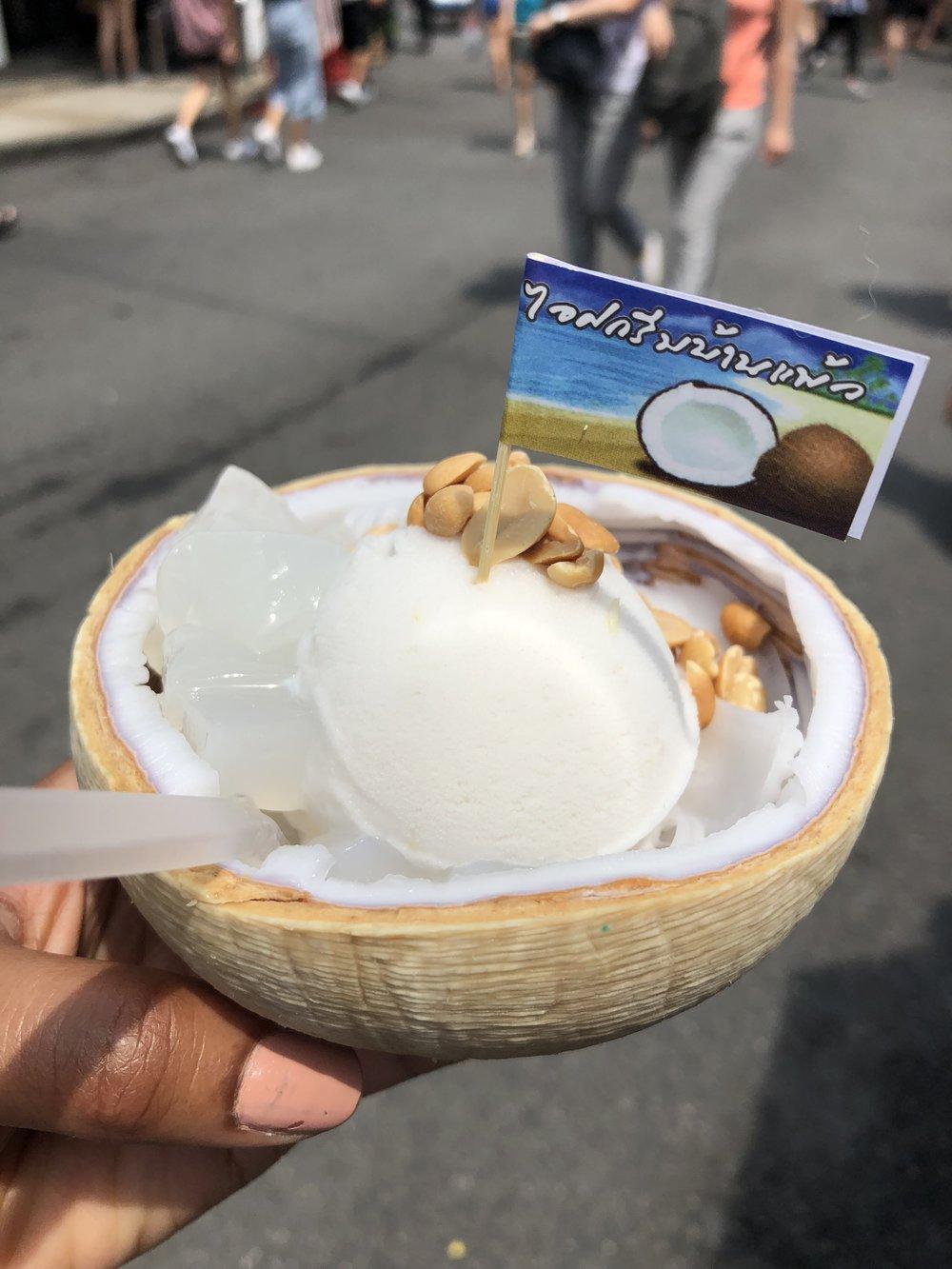 Coconut Ice Cream at Chatuchak Weekend Market