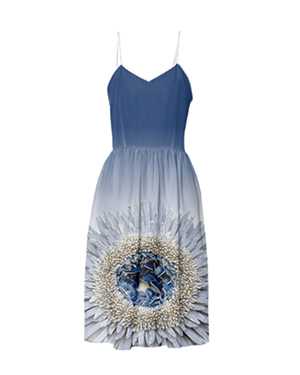 Flower Power Summer Dress - Blue