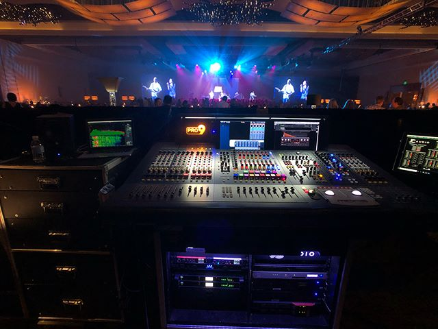 Out on the road,  this time in San Antonio, TX  PA: @dbaudiotechnik_gmbh (ETP) Mains:  8 V/side Infill: 4 V/side Front Fill: (2) Q10 Delays: (4) hangs of (6) V Subs: (8) JSub + (4) J-Infra  Control: @midasconsoles Pro9 (JC Audio) (1) DL251 + (1) DL155 RF & Artist Inputs (1) DL153 Video IO (4) @lakeprocessing LM44 on a Dante Network, with guest console tap via AES Redundant @wavesaudio Grid via @klarkteknik 9650 @entertainment_mfg_group Split @motutech Playback  A1/FOH: Josiah Canzanella @jcanzanella  System Tech: Jonathan Smith @jonnyd49  RF/A2: Andrew Morton (EEQ) @soundguy098  Andrew is managing 24 channels of @shure UHF-R,  8 PSM1000, an 8 drop @clearcom Freespeak II system, + a 4 channel RTS system.