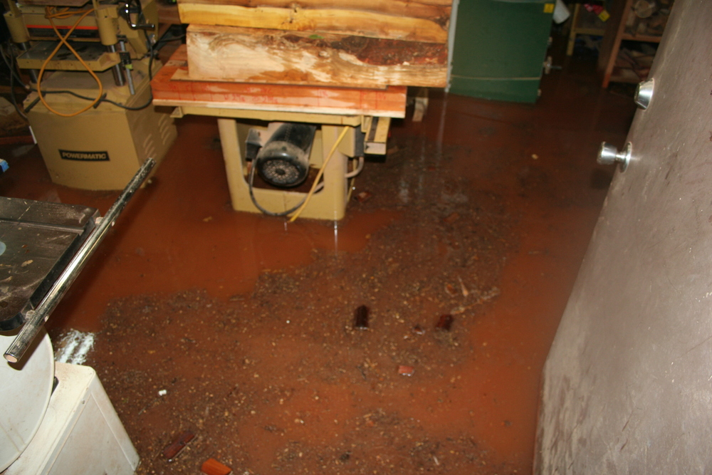 Flooded table saw, planer etc.